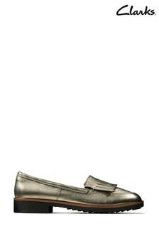 Clarks Stone Metallic Griffin Kilt Shoes