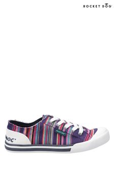 Rocket Dog Purple Jazzin Canvas Aloe Lace Up Trainers