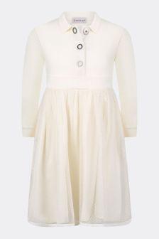 Girls Ivory Cotton Jersey Dress