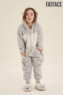 FatFace Grey Koala Fleece All-In-One