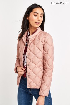 GANT Womens Pink Light Down Quilted Jacket