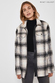 Mint Velvet Cream Lumberjack Jacket