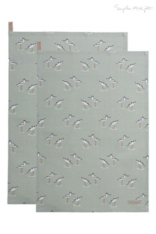 Set of 2 Sophie Allport Coastal Birds Tea Towels