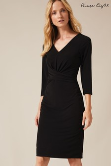 Phase Eight Black Selima Twist Front Dress