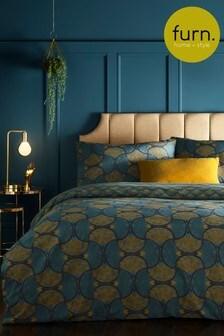 Furn Decora Fan Geo Reversible Duvet Cover and Pillowcase Set