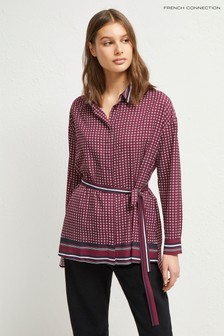 French Connection Pink Ambra Light Belted Shirt