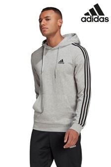 adidas 3 Stripe Pullover Hoodie