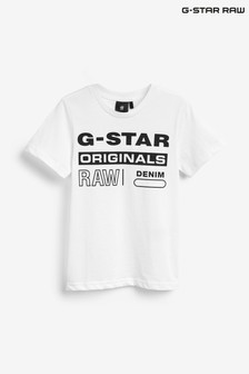 G-Star White Logo T-Shirt