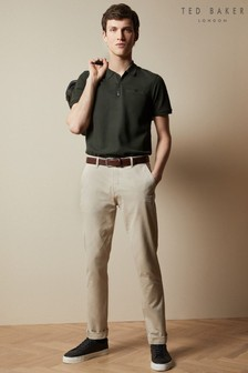 Ted Baker Natural Gloss Cotton Slim Fit Chinos