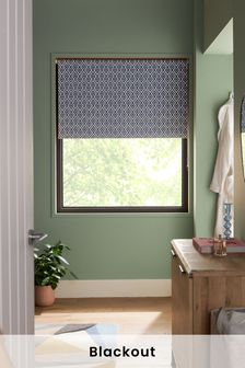 Diamond Geo Print Blackout Roller Blind