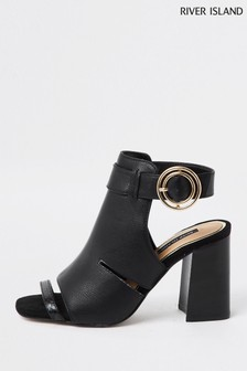 River Island Black Cut Out Shoe Boots