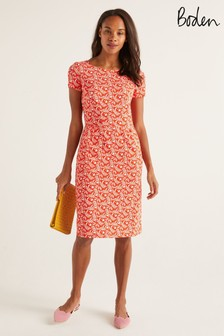 Boden Orange Phoebe Jersey Dress
