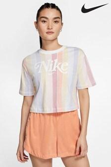 Nike Femme Stripe Cropped T-Shirt