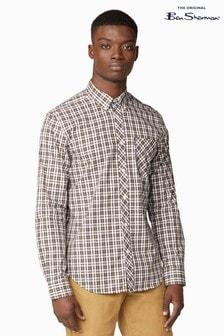 Ben Sherman Yellow Long Sleeve Classic Check Shirt