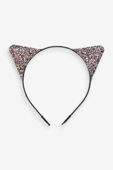 Halloween Glitter Cat Ears Headband