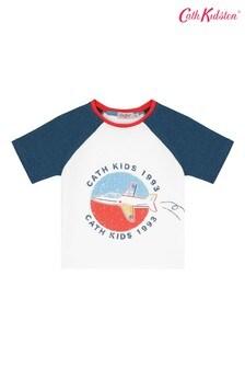 Cath Kidston® Cream In The Sky Raglan T-Shirt