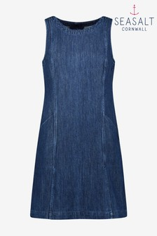 Seasalt Petite Blue Stone Sculpture Dress