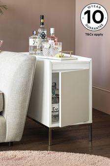 Mode White Gloss Storage Sofa Side