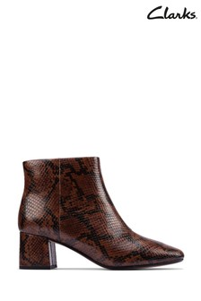 Clarks Dark Tan Sheer Flora 2 Boots