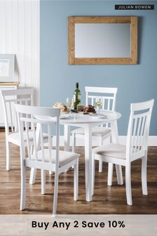 Coast White Dining Set by Julian Bowen