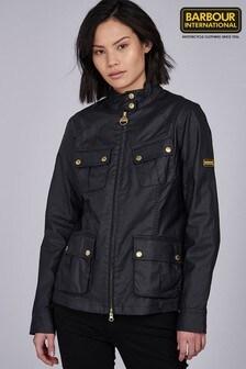 Barbour® International Black Lightweight Coated Thunderbolt Jacket