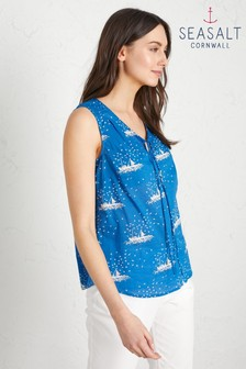 Seasalt Blue Cobbs Well Top