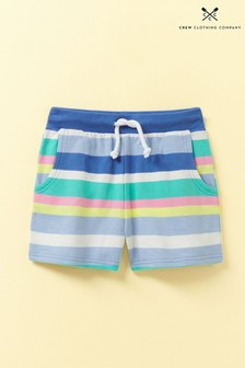 Crew Clothing Blue Jersey Stripe Shorts