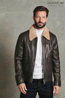 Signature Leather Flight Jacket