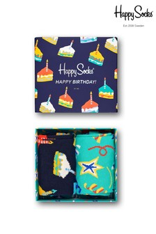 Happy Socks Birthday Cake Socks Two Pack Gift Box