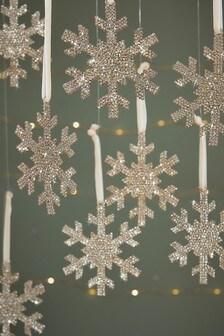 8 Pack Snowflake Baubles