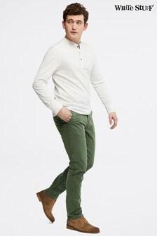 White Stuff Green Portland Organic Overdye Chino Trousers