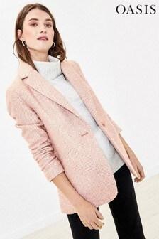 Oasis Pink Tweed Blazer