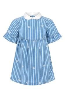 GUCCI Kids Baby Girls Blue Dress