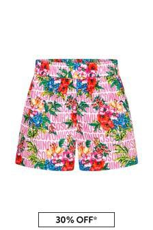 Moschino Kids Moschino Girls Pink Cotton Shorts