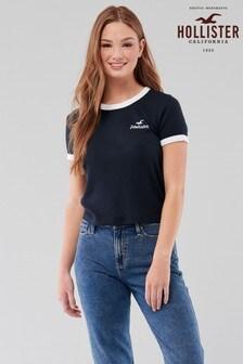 Hollister Navy Waffle T-Shirt