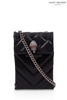 Kurt Geiger London Black Recycled Vert Kensington Bag