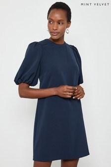 Mint Velvet Puff Sleeve Mini Shift Dress