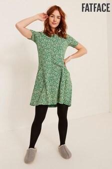 FatFace Green Simone Confetti Ditsy Dress