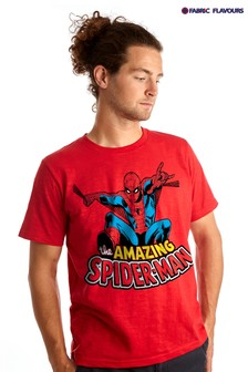 Fabric Flavours Red Mens Amazing Spider-Man™ T-Shirt