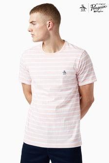 Original Penguin® Pink Breton Stripe Sticker Pete T-Shirt