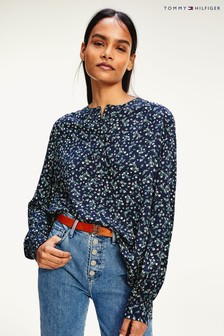 Tommy Hilfiger Blue Raya Floral Blouse