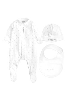 White Cotton Babygrow Gift Set