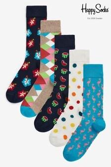 Happy Socks Hibiscus Socks Five Pack