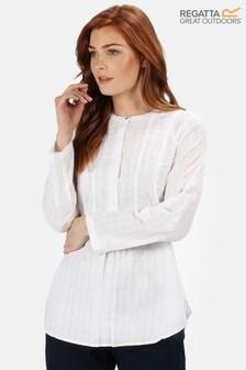 Regatta White Maladee Long Sleeve Shirt