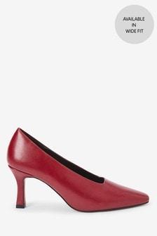 Curvy Heel Court Shoes