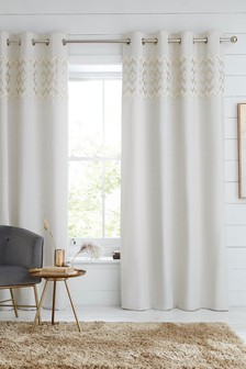 Tufted Metallic Eyelet Curtains