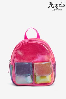 Angels by Accessorize Pink Colourblock Metallic Mini Backpack