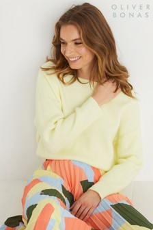 Oliver Bonas Yellow Zeus Knitted Jumper