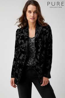 Pure Collection Black Devore Jacket