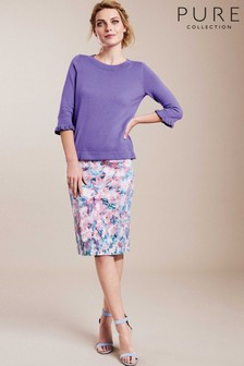Pure Collection Pink Pencil Skirt